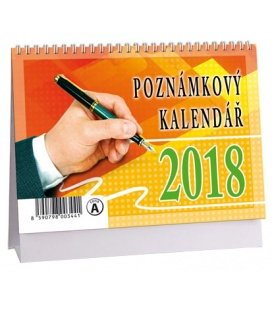 Stolní kalendář Poznámkový MIKRO 2018