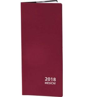 Diář kapesní měsíční PVC - 2018