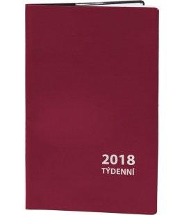 Diář kapesní čtrnáctidenní PVC - 2018