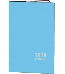 Diář kapesní čtrnáctidenní PVC - sv. 2018