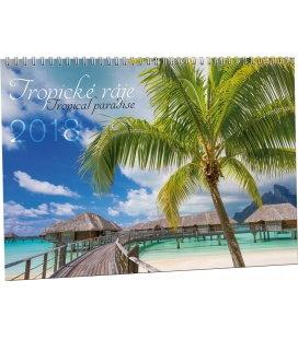 Nástěnný kalendář Tropické ráje 2018