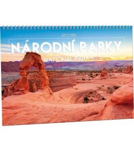 Nástěnný kalendář Národní parky 2018