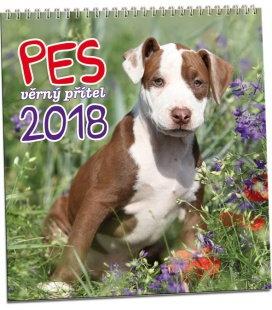 Nástěnný kalendář Pes - věrný přítel 2018