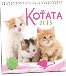 Nástěnný kalendář Koťata 2018