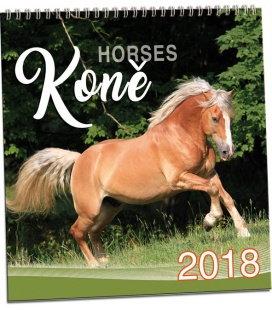 Nástěnný kalendář Koně 2018