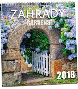 Nástěnný kalendář Zahrady 2018