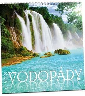 Nástěnný kalendář Vodopády 2018