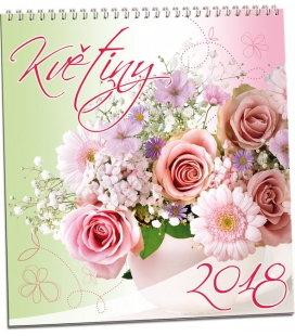 Nástěnný kalendář Květiny 2018