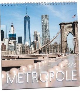 Nástěnný kalendář Metropole 2018