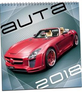Nástěnný kalendář Auta 2018