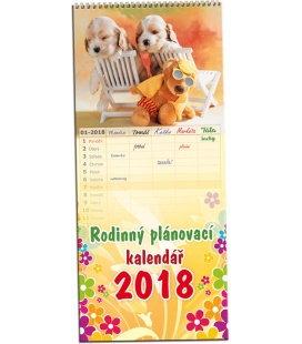 Nástěnný kalendář Rodinný plánovací Mláďátka 2018