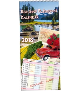 Nástěnný kalendář Rodinný plánovací Obrázky 2018