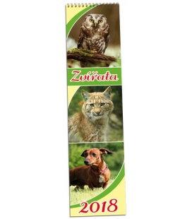 Nástěnný kalendář Zvířata - vázanka 2018