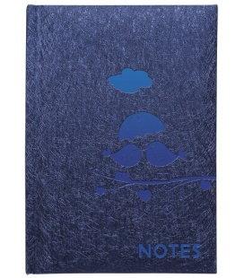 Notes Linkovaný blok s kapsou A6 - spider modrý s ražbou 2018