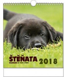 Nástěnný kalendář IDEÁL - Štěňata 2018