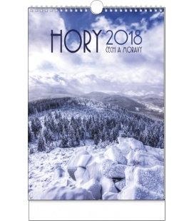 Nástěnný kalendář Hory Čech a Moravy 2018
