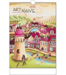 Nástěnný kalendář Art Naive - Sylva Prchlíková 2018