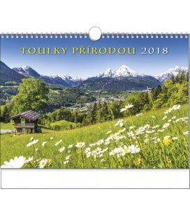 Nástěnný kalendář Toulky přírodou 2018