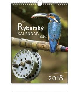 Nástěnný kalendář Rybářský kalendář 2018