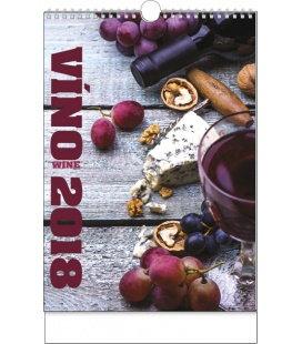 Nástěnný kalendář Víno 2018