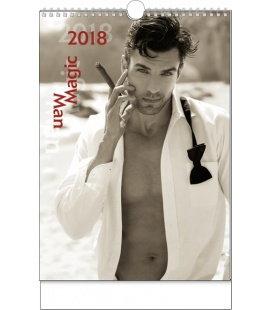 Nástěnný kalendář Magic Man 2018