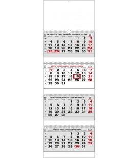Nástěnný kalendář Čtyřměsíční - skládaný (s mezinárodními svátky) 2018