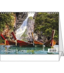 Stolní kalendář Obrázky z cest 2018