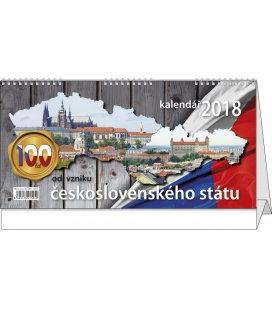 Stolní kalendář 100 let od vzniku československého státu 2018