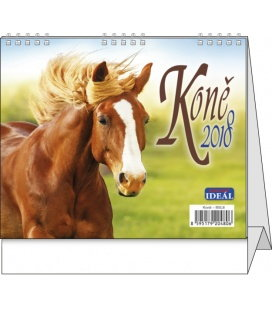 Stolní kalendář IDEÁL - Koně 2018