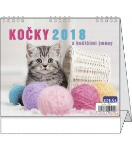 Stolní kalendář IDEÁL - Kočky 2018