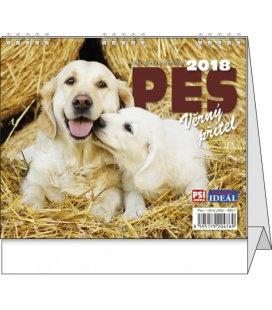 Stolní kalendář IDEÁL - Pes, věrný přítel 2018
