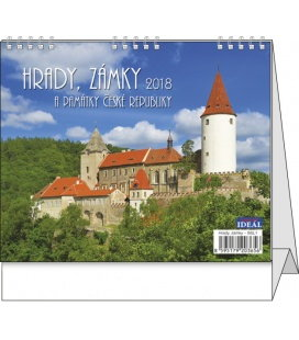 Table calendar IDEÁL - Hrady, zámky a památky ČR 2018
