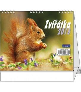 Stolní kalendář IDEÁL - Zvířátka 2018