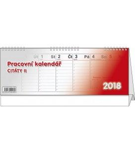 Tischkalender Citáty II. 2018