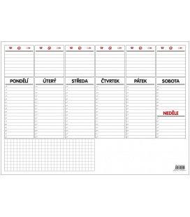 Stolní kalendář Stolní plánovač A3 - týdenní mapa - 30 listů 2018