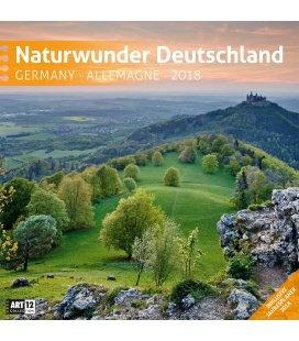 Nástěnný kalendář Krásy přírody Německa / Naturwunder Deutschland 30x30 2018