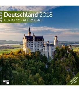 Nástěnný kalendář Německo / Deutschland 30x30 2018
