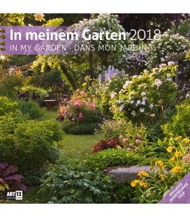 Nástěnný kalendář V mé zahradě / In meinem Garten 30x30 2018