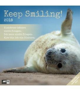 Nástěnný kalendář Vždy s úsměvěm / Keep Smiling 30x30 2018