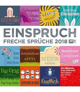Nástěnný kalendář Námitky / Einspruch 30x30 2018