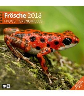 Nástěnný kalendář Žáby / Frösche 30x30 2018
