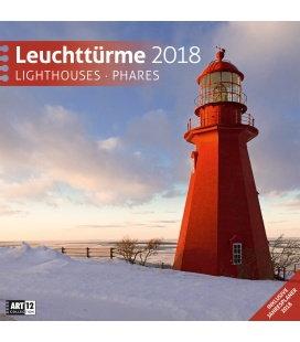 Wall calendar Leuchttürme 30x30 2018