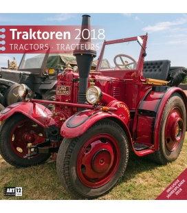 Nástěnný kalendář Traktory / Traktoren 30x30 2018