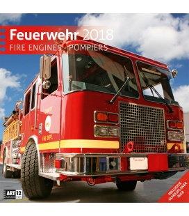 Nástěnný kalendář Hasiči / Feuerwehr 30x30 2018