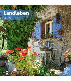 Nástěnný kalendář Romantická zákoutí / Landleben 30x30 2018