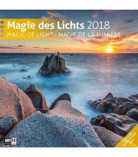 Nástěnný kalendář Kouzlo světla / Magie des Lichts 30x30 2018