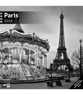 Nástěnný kalendář Paříž / Paris 30x30 2018