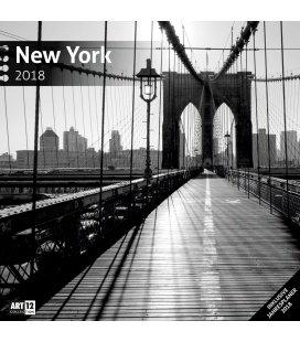 Nástěnný kalendář New York 30x30 2018