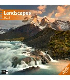 Nástěnný kalendář Krajiny / Landscapes 30x30 2018
