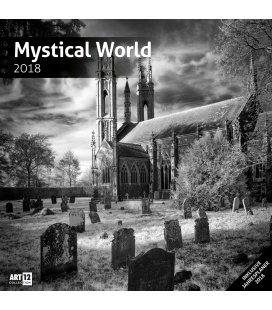 Nástěnný kalendář Mystický svět / Mystical World 30x30 2018